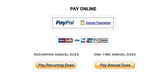 Last chance to pay annual dues for 2014-2015 school year